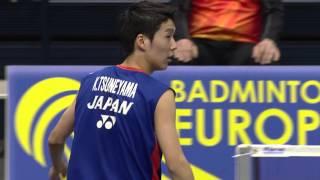 Sulkapallon Finnish Open 2016, miesten kaksinpelin loppuottelu: Kanta Tsuneyama (JPN) - Tien Minh Nguyen (VIE) Badminton, Finnish Open 2016, men's singles fi...