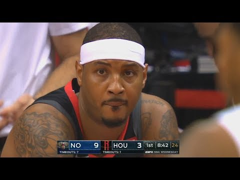 Carmelo Anthony Gets Benched Then Shows Rockets He's Not Washed Up In Debut! Rockets Vs Pelicans