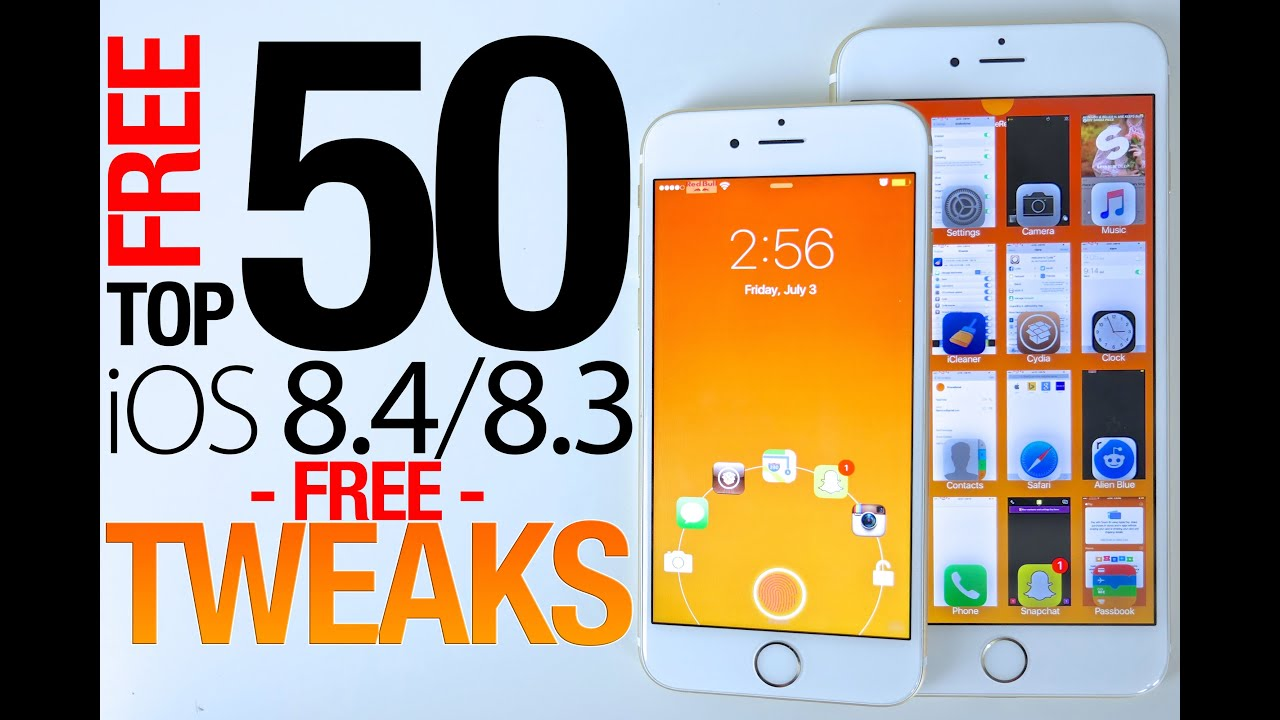 Top 50 FREE iOS 8.4 & 8.3 Cydia Tweaks Of ALL Time – 8.4 Taig Jailbreak Compatible
