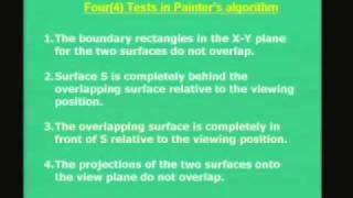 Lecture - 29 Visible Surface Detection (Contd..)