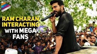 Ram Charan Interacting with Mega Fans