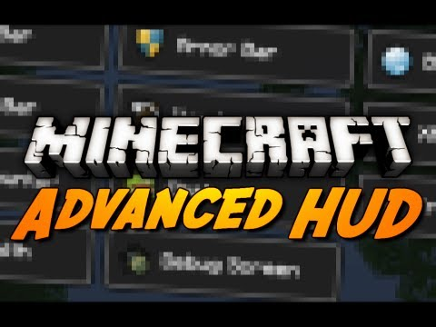 Minecraft Mod Review: ADVANCED HUD MOD! (Tweak the Health, Hunger, Armor, XP Bar & More!)