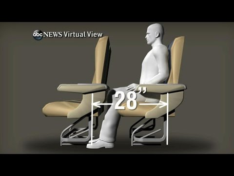 airplane - Woman wanted to recline her seat but passenger behind her prevented it with a gadget called a knee defender.