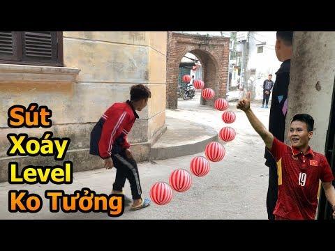 Thử Thách Bóng Đá sút xoáy cầu vồng như Quang Hải U23 Việt Nam bằng bóng nhựa mùa tết 2019 - Thời lượng: 10 phút.