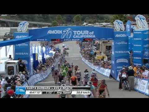 Tour - Santa Barbara to Avila Beach - highlights of stage 5 of the Amgen Tour of California.