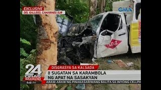24 Oras is GMA Network's flagship newscast, anchored by Mike Enriquez, Mel Tiangco and Vicky Morales. It airs on GMA-7...