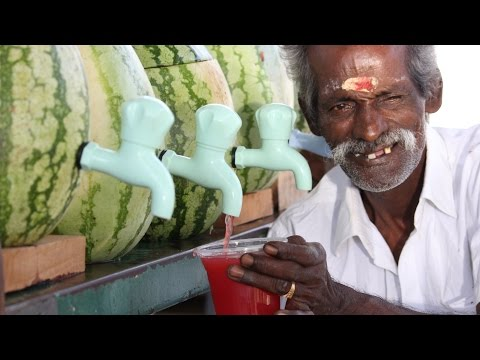100 KG Watermelon juice prepared by my DADDY for Homeless Peoples / Village food factory