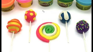 Play Doh Lollipops - Creative Fun for Kids - Learning with PlayDough