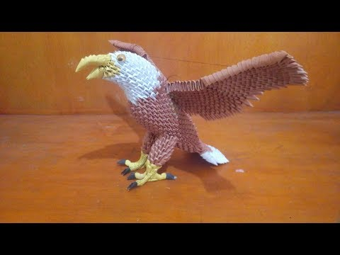 How To Make Paper Craft 3d Origami Eagle (easy)