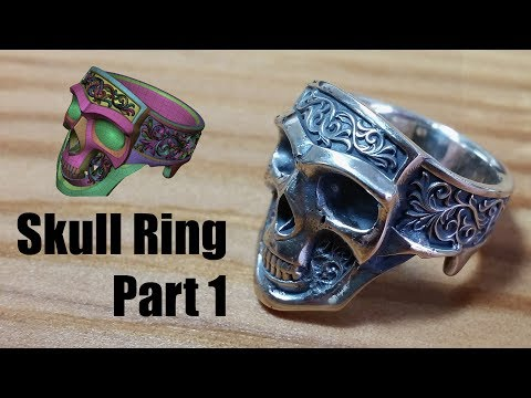 Zbrush - Making Jewelry - Silver Skull Ring - Part 1