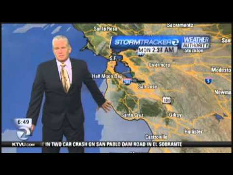 Weather Report Is Interrupted By Earthquake