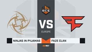 NiP vs FaZe, map 3 overpass, ECS Season 7 Europe