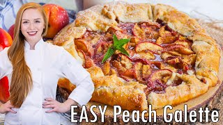 Easy Peach Galette A La Mode by Tatyana's Everyday Food
