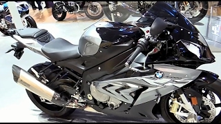 7. 2018 BMW S1000RR Black Silver Strip Special Edition Walkaround Review Look in HD