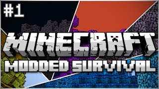 Minecraft: Modded Survival Let's Play Ep. 1 - Teleporters, Castles, and Cyclops