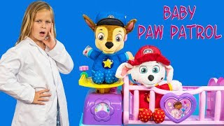 We Love Nickelodeon Paw Patrol! Please subscribe here:  http://www.youtube.com/user/TheEngineeringFamily?sub_confirmation=1Check out our new channel: https://www.youtube.com/channel/UCPC55dCdzIjNJd421LbK3uwHelp the Doctor Assistant watch over our favorite Nickelodeon friend in this The Engineering Family YouTube video toy parody! Watch as Doc Assistant runs a baby nursery and takes care of baby pups Chase and Marshall, Skye and Rubble from Nickelodeon Paw Patrol! Check out some of these other fun TheEngineeringFamily Treasure HuntsDISNEY SURPRISE TREASURE Secret Surprise Treasure with the Assistant a Disney World Video Surprise   https://youtu.be/a3c5pAJ-o-kPJ MASKS Disney Search For PJ Masks with Blaze and Paw Patrol Video  Adventure   https://youtu.be/4mV2sNE14PgAssistant Slip N Slide Bounce House Carnival Challenge Surprise Toys Video  https://youtu.be/HKE2lCvb6fMASSISTANT TREASURE HUNT Paw Patrol Look Out Hunt + toysZootopia + Lion Guard Toys Surprise Video  https://youtu.be/ECgPK35Gw3wOr these Playlists!  Funny Kids Videos     https://www.youtube.com/playlist?list=PLoLQ9unpi4OHXhaMeWT2y6P27pbuzKbckFeaturing the Assistant   https://www.youtube.com/playlist?list=PLoLQ9unpi4OGfgjxJsWnO878aLXo2TgXHAbout The Engineering FamilyWe are The Engineering Family, a family of educators working to show you how to make learning fun and engaging through toy unboxings, toy reviews, and original series designed to insight imaginative play within your family. With Mr. Engineer as an experienced engineer with a love of exploring new things, Mrs. Engineer an award winning teacher with a math and counseling focus, and their daughter The Assistant you can think of The Engineering channel as your imagination station. You can think of The Engineering Family channel as a Funbrain meets YouTube. This family is taking some of the coolest toys like Paw Patrol, Shimmer and Shine, Scooby Doo, PJ Masks, Doc Mcstuffins, and plenty of fun Real Life live action videos that help teach children valuable STEM content. As always... TheEngineeringFamily only features 100% suitable family fun entertainment.
