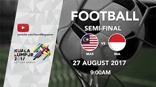 Video Football ⚽ Men's Semi-Final: Malaysia 🇲🇾 vs 🇮🇩 Indonesia | 29th SEA Games 2017 MP3, 3GP, MP4, WEBM, AVI, FLV Mei 2018