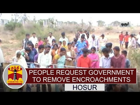 People-Request-Government-to-Remove-Encroachments-at-Hosur-Thanthi-TV