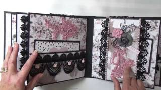Custom order mini album. For information on custom orders, please email me at capecodcheryl@yahoo.comPrima Rose Quartz papers and flowers can be purchased at : http://www.craftycity.comMy Blog: http://www.cherylspapercreations.comMy Facebook Page: https://www.facebook.com/cherylspapercreations/