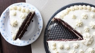 How To Make Two Layer Chocolate Cake With Vanilla Butter Cream - By One Kitchen Episode 29 Video