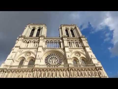 Paris, Cathédrale Notre Dame de Paris, La Façade et les Portails in HD 1080 (manortiz)