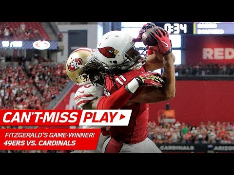 Video: Larry Fitzgerald's Leaping TD Catch for the WIN!   Can't-Miss Play   NFL Wk 4 Highlights