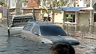 Flooding At Don Muang Bangkok 09 Nov 2011