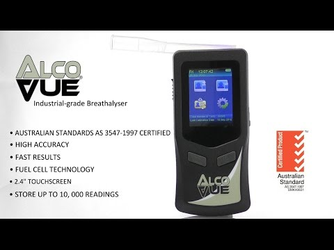 AlcoVUE Industrial grade Breathalyser Product Video