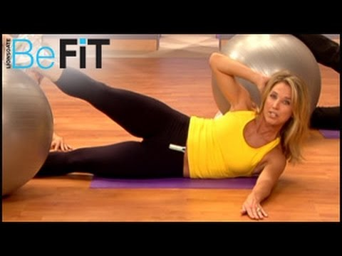 befit Be Fit denise austin - Denise Austin: Core & Upper Body Strength Workout is an intense, 15-minute, calorie-blasting exercise routine that employs a stability ball to burn fat, stre...