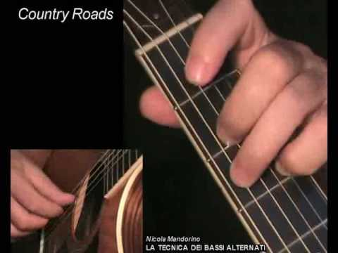 Country Roads - Fingerpicking Guitar Lesson & TAB! Learn How To Play
