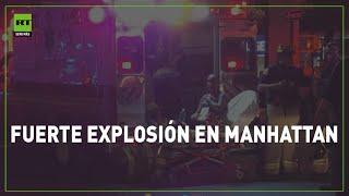 Fuerte explosión en Manhattan, Nueva York