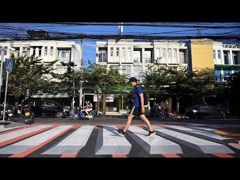 Thailand: 3-D-Zebrastreifen in Bangkok - Vorsicht, St ...