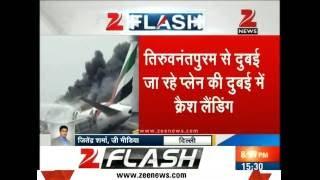 Crash landing of Emirates plane at Dubai International Airport