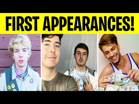 First Time MrBeast Crew Appeared in Videos (Karl Jacobs, Chris Tyson, Chandler Hallow, MrBro)