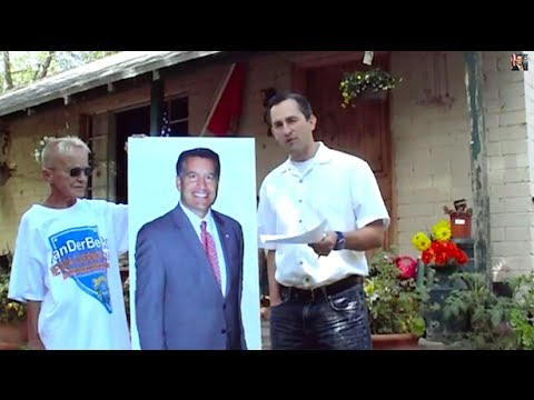 man - A fringe candidate for Nevada governor debated a cardboard cutout of his incumbent opponent about the Cliven Bundy standoff with federal agents in a video p...