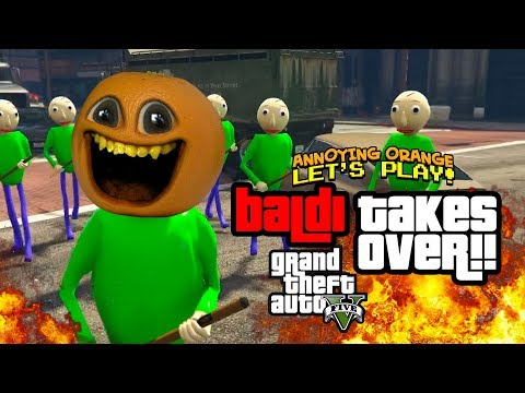 Video Baldi Takes Over! - GTA V [Annoying Orange Plays] download in MP3, 3GP, MP4, WEBM, AVI, FLV January 2017