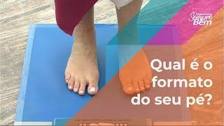 Qual é o formato do seu pé?
