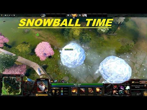 Dota 2 Sniper & Tuskar HUGE SNOWBALL BUGG
