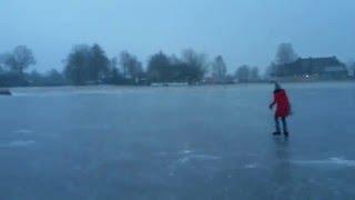 Kurzes Eisvergnügen zu Beginn des Jahres
