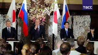 Пресс-конференция по итогам переговоров глав МИД и Минобороны России и Японии