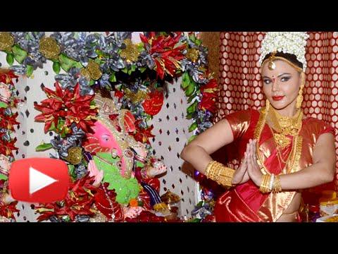 Rakhi Sawant Ganpati Celebration 2015