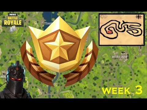 Fortnite Week 3 challenges // Follow the treasure map in salty springs guide !! ( quick & easy)