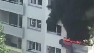 Dramático rescate de dos niños atrapados en un edificio en llamas en Francia