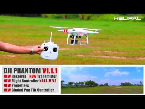 1.1 - For more information, please visit: http://www.helipal.com/dji-phantom-gps-drone-rtf.html 1) NEW Flight Controller (NAZA-M V2) 2) NEW Receiver with Dual Ante...