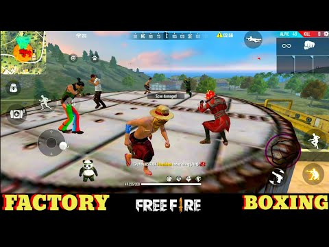 FREE FIRE FACTORY BOXING BOOYAH 34 - FF FIST FIGHT ON FACTORY ROOF best gameplay - Garena Free Fire