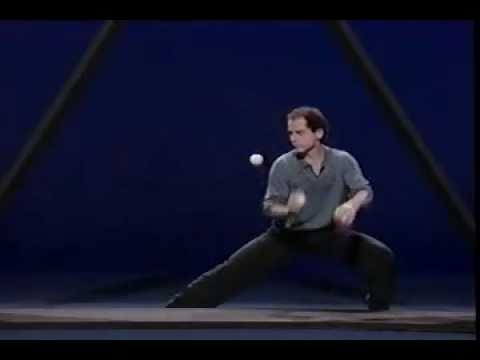 Performs - Master juggler Michael Moschen performs his incredibly famous, jaw-dropping piece where three balls and a triangle become a musical and visual work of art. F...