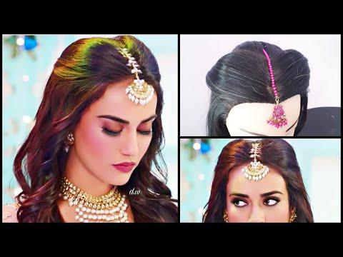 Curly hairstyles - Maang Tikka Setting For Every Hairstyle  Surbhi Jyoti Hairstyle In Nagin3  Mang Tikka Hairstyles