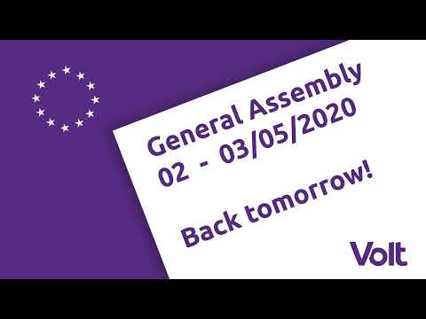 LIVE: Volt Europa General Assembly 02.-03.05.2020 - Day 1