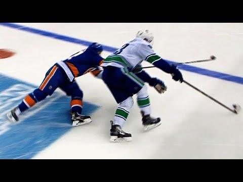 Video: Bo Horvat goes wide on John Tavares, roofs shorty past Jaroslav Halak