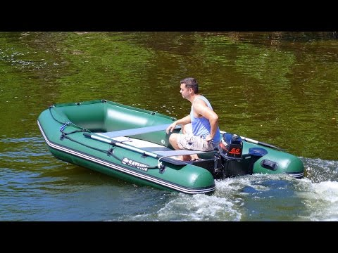 The 11' Saturn Extra-Wide Inflatable Fishing Boat from BoatsToGo.com